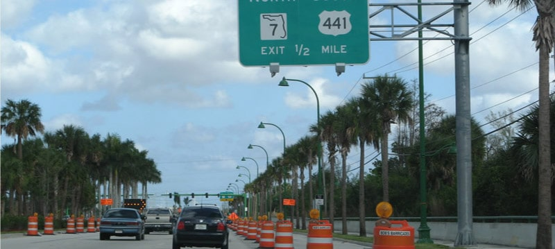 US Highway 441 at Glades Boulevard