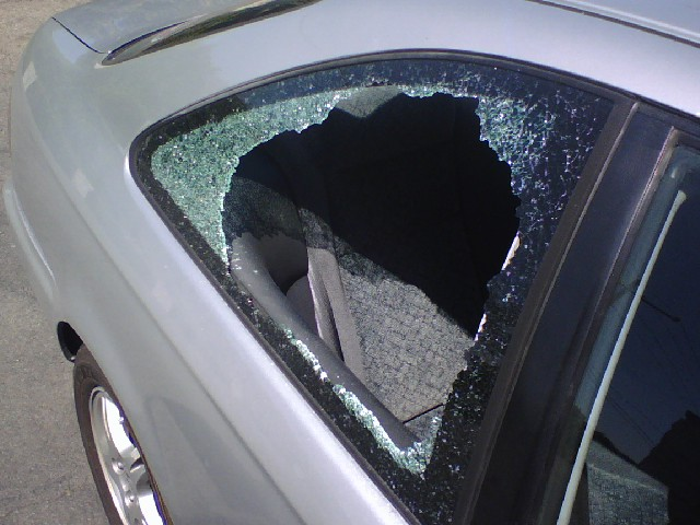car window smashed out