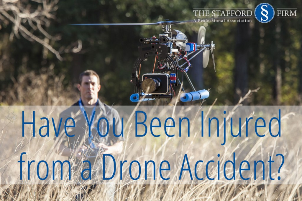 A drone accident can cause serious injury when not operated with care.